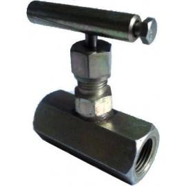 Вентиль игольчатый муфтовый ВИ-15-160 Ду15 Ру16 МПа