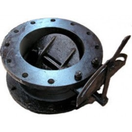 Заслонка дроссельная (клапан) ДХ-100 Pу1.6 МПа (газ)