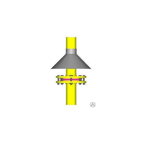 Зонт для ИФС на газопроводе Ду200 серия 5.905-25.05 УГ 10.05.01-07