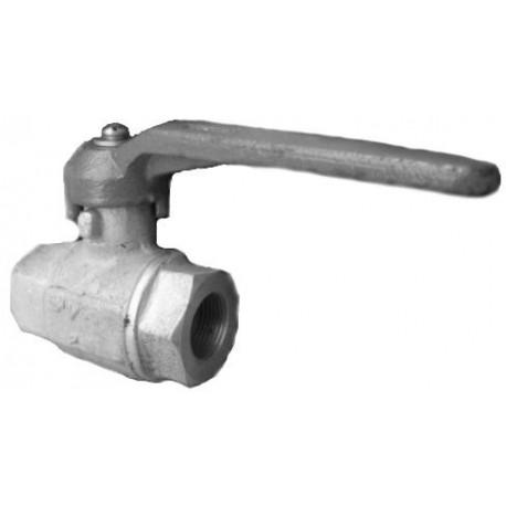 Кран шаровый газовый латунный муфтовый 11б27п Ду32 Ру16