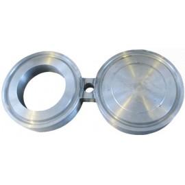 Заглушка поворотная межфланцевая (очки Шмидта, заглушка-восьмерка) АТК 26-18-5-93 Ду40 Ру1,6 МПа (Ру16 ) , ст. 12Х18Н10Т