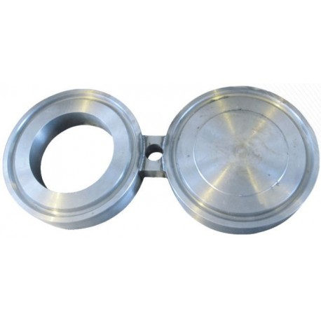 Заглушка поворотная межфланцевая (очки Шмидта, заглушка-восьмерка) АТК 26-18-5-93 Ду32 Ру4,0 МПа (Ру40 ) , ст. 12Х18Н10Т