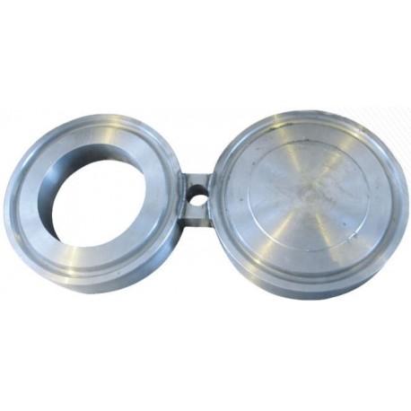 Заглушка поворотная межфланцевая (очки Шмидта, заглушка-восьмерка) АТК 26-18-5-93 Ду15 Ру6,3 МПа (Ру63 ) , ст. 12Х18Н10Т