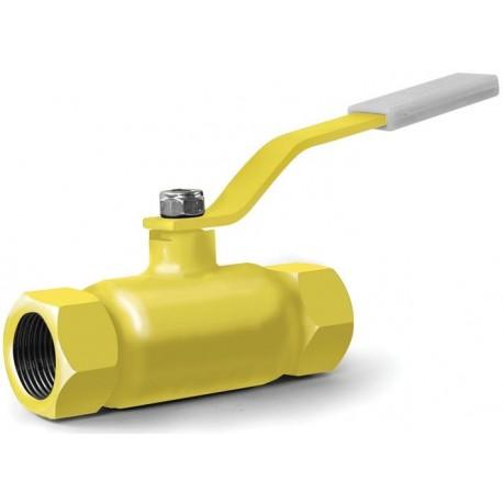 Кран шаровый газовый 11с41нж муфтовый КШ-20-25 (-2.5 МПа)